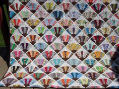 Grandmothers Fan Quilt by peggysquiltsnmore on Etsy