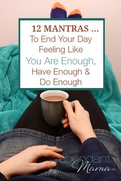 12 Mantras to End Your Day Feeling Like You Are Enough, Have Enough and Do Enough. Mantras are a great positive reinforcement. Mantra, The Words, Stress, Chakras, Mindfulness Meditation, Mindfulness Therapy, Mindfulness Activities, Meditation Music, Inner Peace