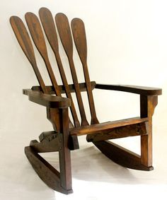 Rocking Chair made from old Canoe Paddles