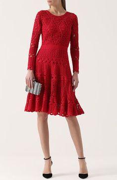 "Photo from album ""Неразобранное"" on Yandex. Sleeves Designs For Dresses, Sleeve Designs, Lace Midi Dress, Knit Dress, Crochet Bikini Pattern, Pineapple Crochet, Crochet Shirt, Lace Cardigan, Dress Picture"