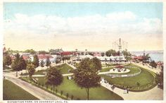 View of the park in 1917 from the roof of the Hotel Conneaut at Conneaut Lake Park
