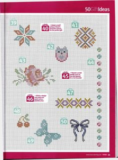 Various small motifs part 4 free cross stitch patterns