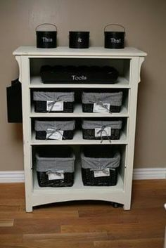 Old dresser, great idea!