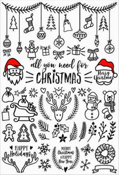 Christmas easy doodle ideas | 500 Easy Doodle Art Drawings | Doodle Art Journals | Enhance the look of your Journals by using these Doodle Art Ideas For Your Bujo #doodleartjournals #doodleartdrawings #bulletjournalinspiration #bulletjournaldrawings