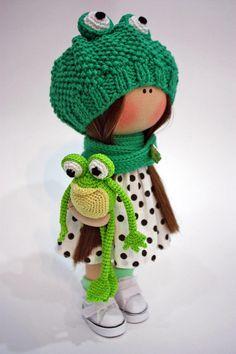 Textile Doll Cloth Doll Fabric Doll Muñecas Rag Doll Handmade Doll Tilda Doll Puppen Baby Doll Bambole Art Doll Green Doll Poupée by Ksenia __________________________________________________________________________________________ Hello, dear visitors! This is handmade cloth doll