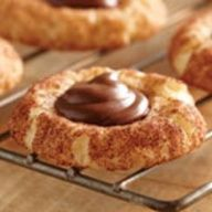 Chocolate Hazelnut Snickerdoodle Cookies
