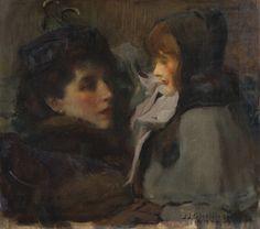 Sir James Jebusa Shannon (1862-1923). Die Frau des Künstlers und seine Tochter.