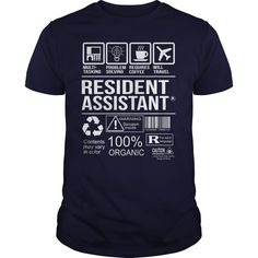 Awesome Shirt For Resident Assistant T-Shirts, Hoodies. GET IT ==► https://www.sunfrog.com/LifeStyle/Awesome-Shirt-For-Resident-Assistant-Navy-Blue-Guys.html?id=41382