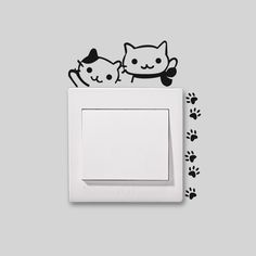 Animal Sticker Wall Light Wall Stickers Vinyl Decor Decals Black for Switch