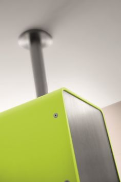 Arte Form Cube Ceiling Showerhead in Lime