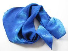 Sapphire Sparkle Hand Dyed Bandana Silk Scarf. $24.00, via Etsy.