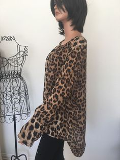 Zenobia PlusSize XXXL Women Tunic Leopard  Designer Fashion Hip  #Zenobia #Tunic