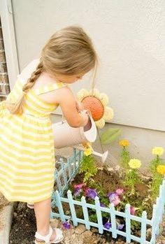 Their personal flower garden