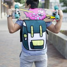 2D Backpack Green/Yellow