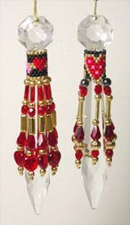 Hearts Desire Crystal U Drop by Deb Moffett-Hall aka Patterns to Bead Beading Projects, Beading Tutorials, Beading Patterns, Crystal Drop, Crystal Beads, Crystals, Beaded Earrings, Beaded Jewelry, Beaded Banners