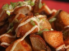 """My favorite """"patatas bravas"""" recipe. Really it's patatas aiolis, but they're soooo good :) The aioli also makes a fantastic dipping sauce for fries!"""