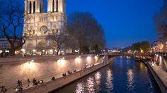 Stroll along the River Seine near Notre Dame de Paris, Paris, France..