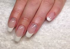French manicure,gel extensions