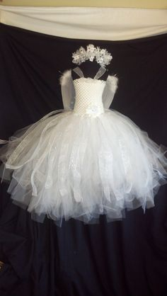 Angel tutu dress 3 pice costume with wings by Passion4Expression