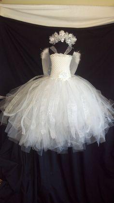 Cupid Angel of light tutu dress 3 pice por Passion4Expression