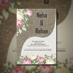 Indian wedding cards maker indian wedding card maker pinterest pastel color floral themed wedding invitationrosepastel color floral themedwedding invitationflowers stopboris Images