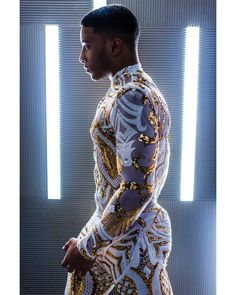The Gold Rush Bring it back? African Men Fashion, Mens Fashion, Fashion Outfits, Bcbg, Mesh Long Sleeve, Black Men, Sexy Men, High Fashion, Menswear
