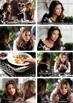 We'd have a foodie fest with you, Hanna! Who else was stressing about that episode? #AriaFindsOut