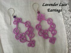 Hey, I found this really awesome Etsy listing at http://www.etsy.com/listing/107627431/lavender-tatted-lace-earrings
