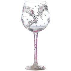 Lolita Superbling Princess Extra Large Wine Glass (1,515 PHP) ❤ liked on Polyvore featuring home, kitchen & dining, drinkware, glass wine glasses, hand blown glass wine glasses, hand blown wine glass, wine glass and glass drinkware