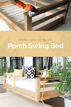 Check out this easy DIY tutorial on how to build a porch swing bed. Simple steps that anybody can do! Check out this easy DIY tutorial on how to build a porch swing bed. Simple steps that anybody can do! Octagon Picnic Table, Outdoor Rooms, Outdoor Decor, Outdoor Daybed, Outdoor Living, Outdoor Bed Swings, Patio Bed, Outdoor Patio Swing, Outdoor Kitchens