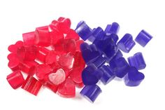 Teeny Tiny Heart Soaps,  8 ounces - wedding decoration, wedding favor, party favor, confetti soap, small, little, one time use, mothers day