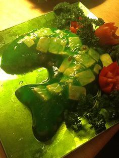 . Green Jello, Scary Food, Velveeta, I'm Afraid, Towers, Slime, Tofu, Watermelon, Salad