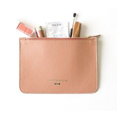 Leather beauty case by Annamaria Pap