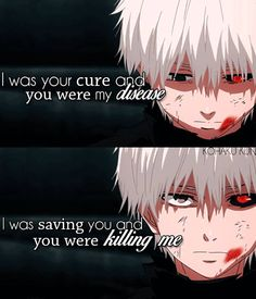 Scary Quotes, Sad Anime Quotes, Anime Depression, Tokyo Ghoul Quotes, Tokyo Ghoul Pictures, Really Good Quotes, Ken Kaneki Tokyo Ghoul, Best Anime Shows, Quotes That Describe Me