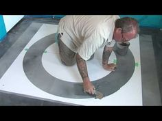 Concrete Stencils - Using Stencils with a Skimcoat - YouTube