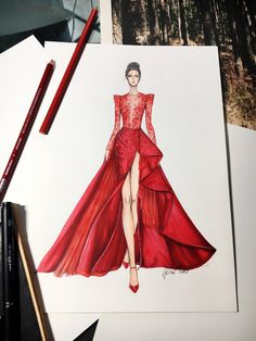 trendige mode ilustration inspiration moda - trendige mode ilustration inspiration moda - - Fashion Design Находи в Интернете самые красивые картинки и делись ими с друзьями по всему миру Fashion Illustrations by Natalia Zorin Liu Dress Design Drawing, Dress Design Sketches, Fashion Design Sketchbook, Fashion Design Drawings, Dress Drawing, Fashion Drawing Dresses, Fashion Illustration Dresses, Fashion Dresses, Fashion Illustrations