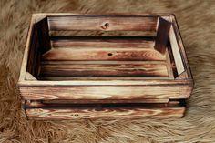 Rustic handmade wood crate newborn photography prop homedecor. $40.00, via Etsy.
