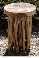 Natural Wood & Branch 20 in. Stool $129