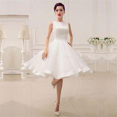 White Mini Short Graduation Dresses 2017 A-Line Knee-Length Organza Homecoming Dresses with Bow Party Dresses vestidos de fiesta