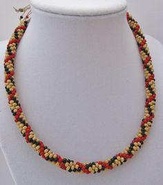 Kumihimo burberry necklace