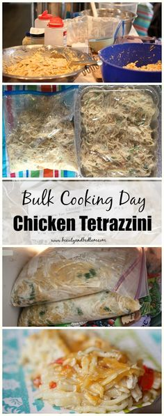 This is one of my favorite freezer friendly recipes. Quick and easy!! Join us for our Bulk Cooking Day with free printables and recipes  - Chicken Tetrazzini