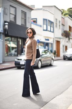 13 Ways to Wear Wide-Legged Pants. Anh, shot in San Francisco for 9 to 5 Chic