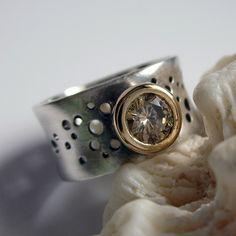 Custom Wedding Ring by sarawestermark, via Flickr