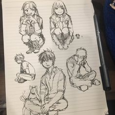 Ao no Exorcist sketches - Anime Thing Rin Okumura, Rin And Shiemi, Mephisto, Blue Exorcist Rin, Exorcist Anime, Ao No Exorcist, Character Sketches, Character Concept, Character Design