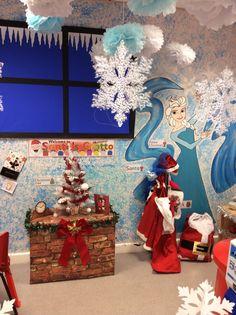 Frozen/Santa's grotto role play area, EYFS Fun Writing Activities, Eyfs Activities, Winter Activities For Kids, Christmas Activities, Christmas Crafts, Gingerbread Man Activities, Role Play Areas, Concept Art Gallery, Polar Animals