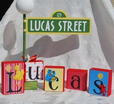Personalized Street Sign for Sesame Street party
