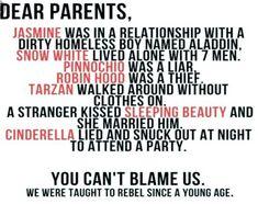 Don't judge our generation parents!