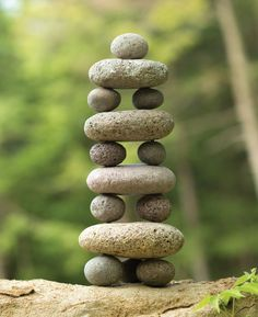 Stacked Stones Zen Garden Cairn Sculpture - Piles of stacked stones can be found all over the world! Spotted on trails and roads, they are used - Zen Rock Garden, Zen Garden Design, Garden Stones, Garden Modern, Indoor Zen Garden, Deco Zen, Deco Nature, Rock Sculpture, Modern Sculpture