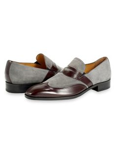 Italian Leather & Suede Wingtip Loafer from Paul Fredrick