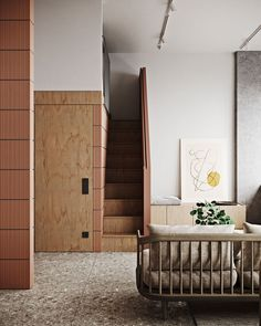 Render wizard recently shared these images of this stunning project he visualized for Russian interiors studio… Modern Interior, Interior Architecture, Interior Design, Timber Staircase, Terrazzo Flooring, Small House Design, Cuisines Design, Home Look, Living Area